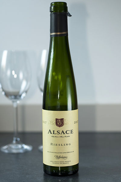 Alsace Riesling wine