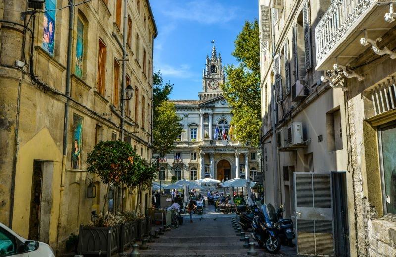 back alley in avignon france