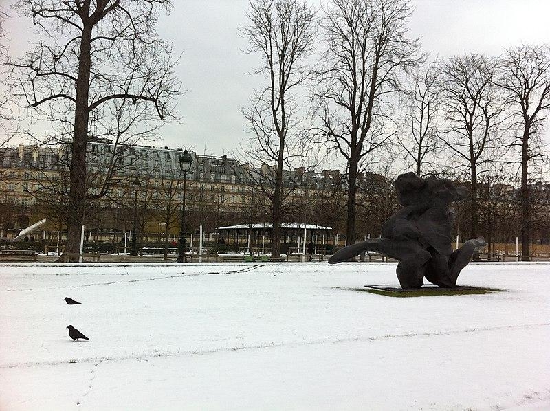 Jardin des Tuileries in winter, Paris, France