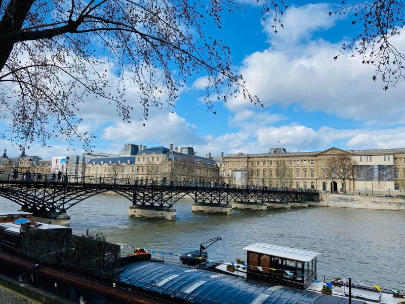 bridge in paris in february