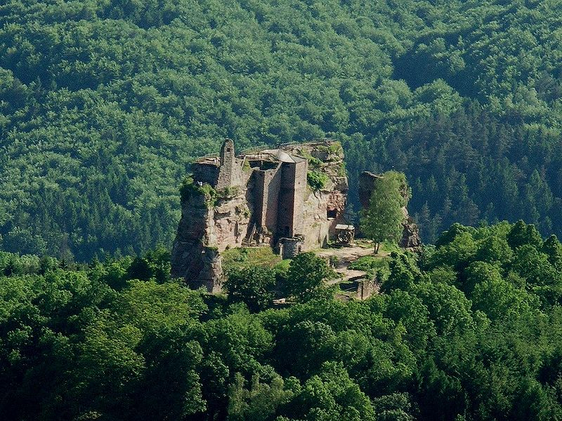 Castle of fleckenstein, alsace