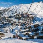 Les Arcs ski resort in france
