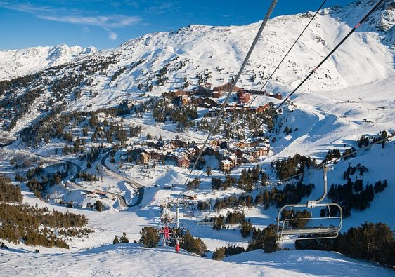 Les Arcs ski resort in france
