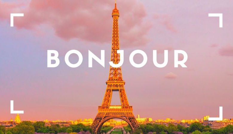 bonjour - how to say hello in french