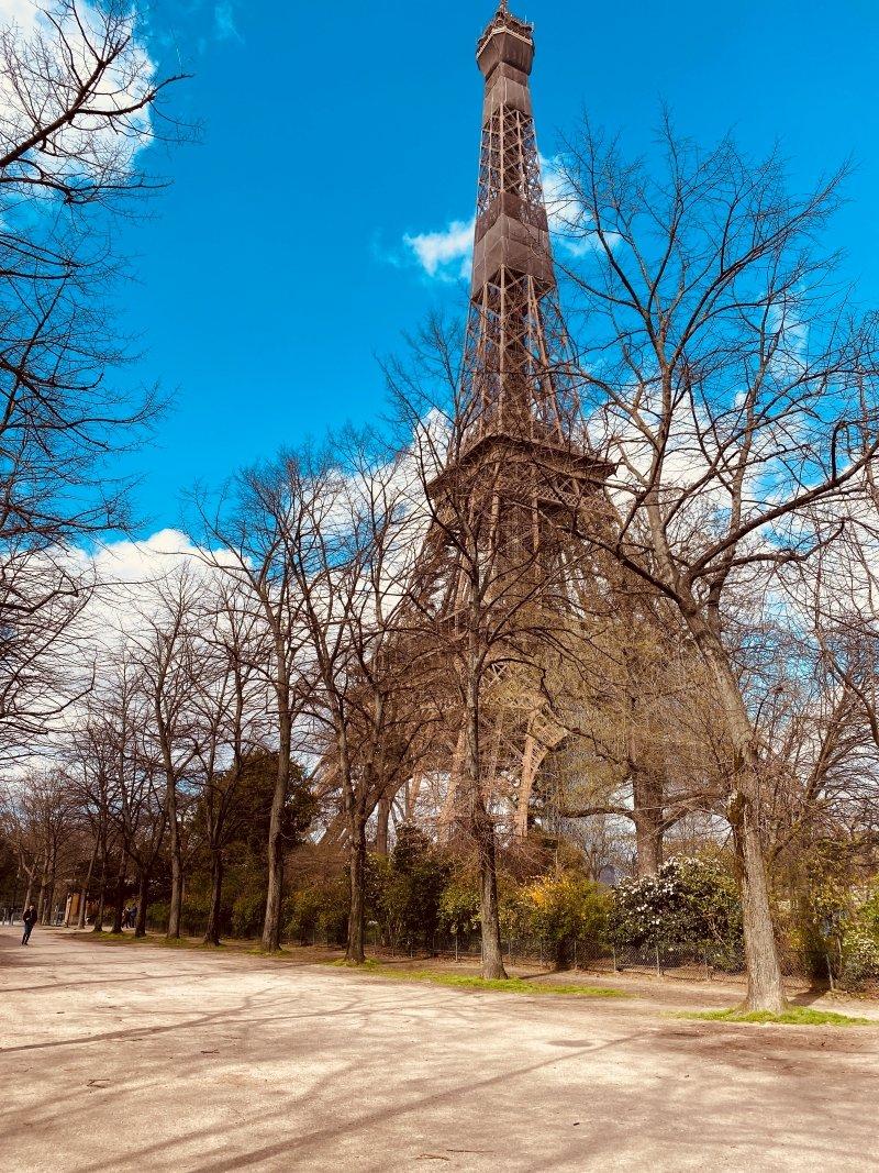 eiffel tower in fall season - france seasons